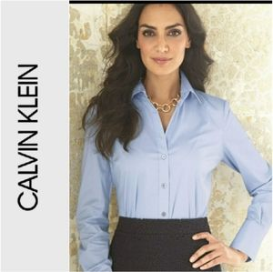 Calvin Klein Button Down Stretch Shirt Size med